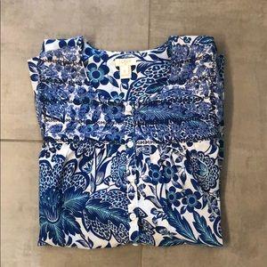 J Crew Factory floral tunic shirt